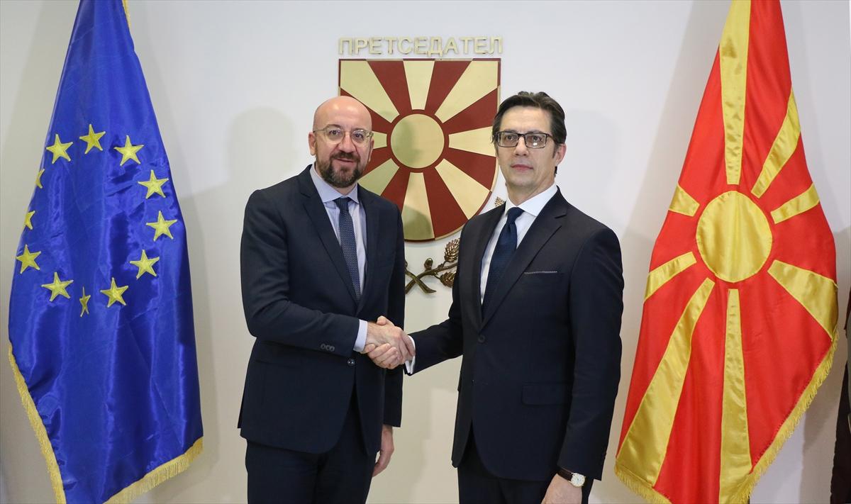 AB Konseyi Başkanı Michel'in Arnavutluk ve Kuzey Makedonya ziyareti
