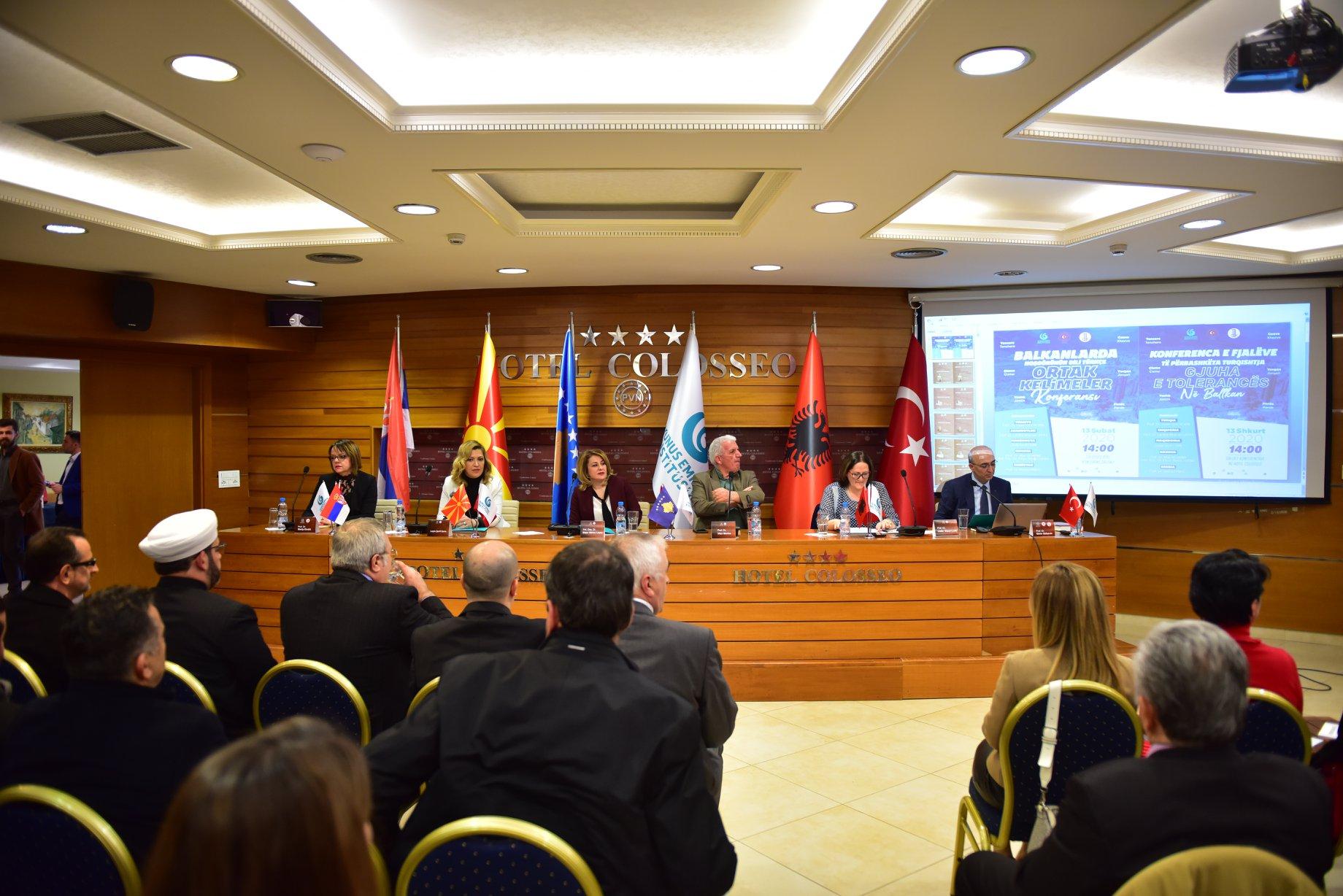 """İşkodra'da """"Balkanlarda Hoşgörünün Dili Türkçe"""" Konferansı düzenlendi"""