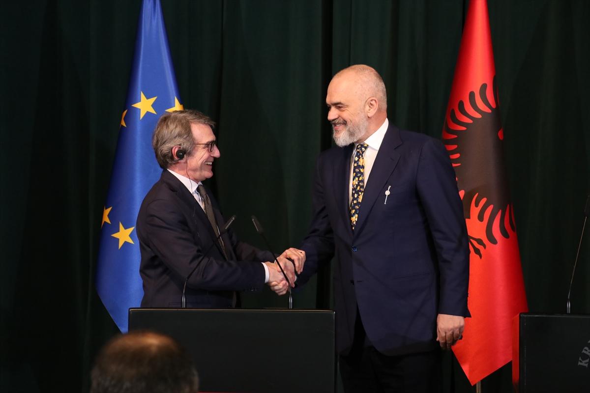 """AP Başkanı Sassoli: """"Arnavutluk'un AB'ye üyelik süreci başlatılmalı"""""""