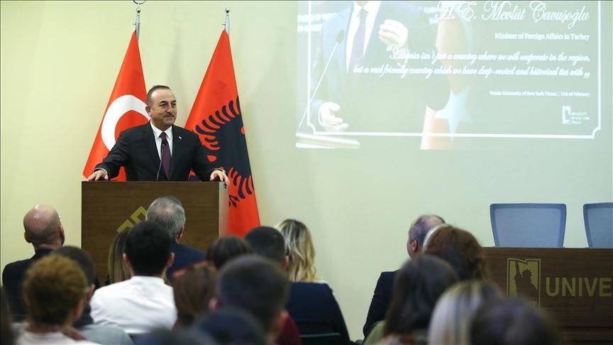 Çavuşoğlu, New York Tirana Üniversitesi Balkan Araştırmaları Merkezi'nin açılışına katıldı