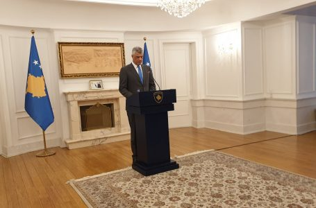 Kosova Cumhurbaşkanı Thaçi'den AB'ye ağır eleştiri