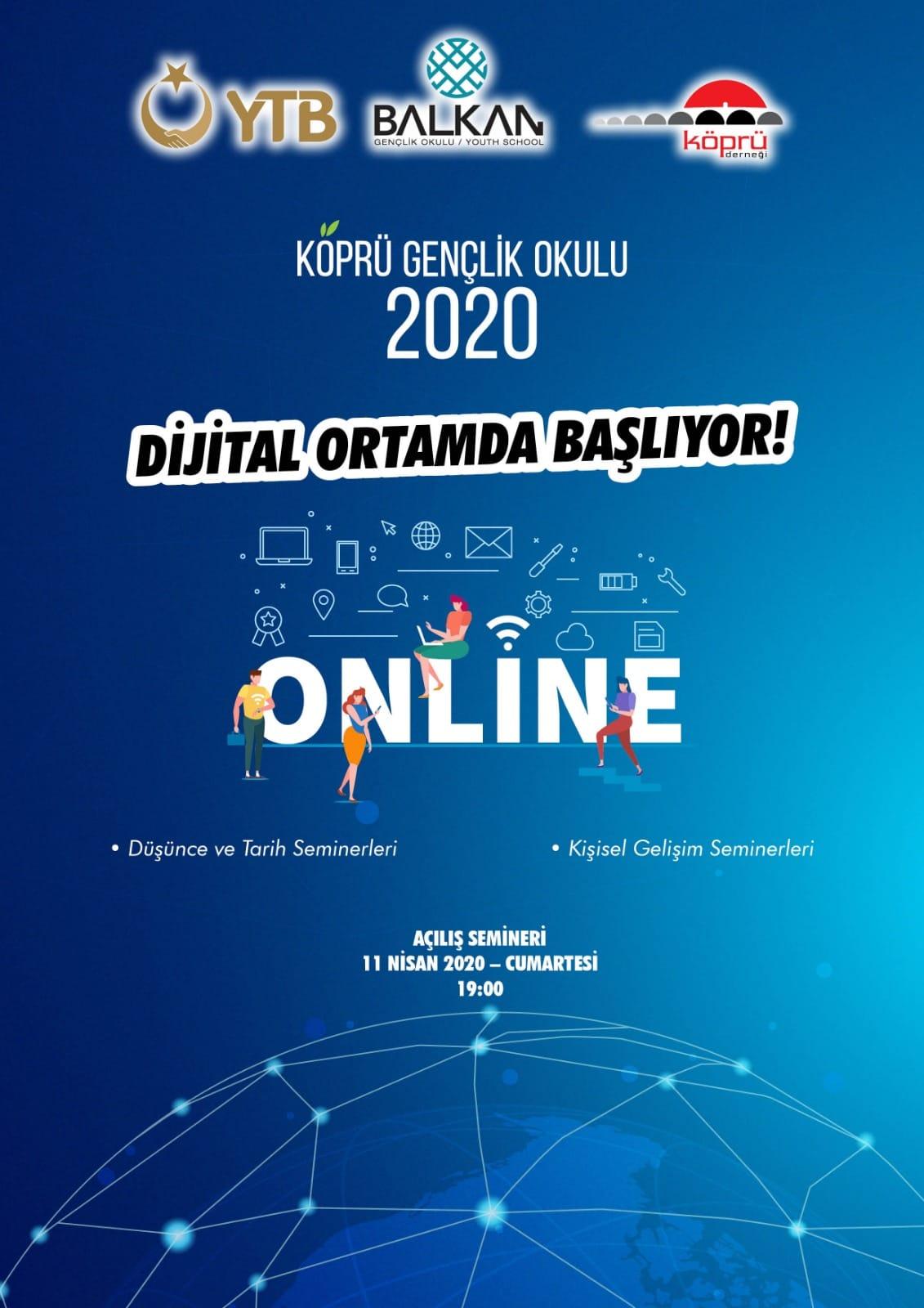 Köprü Gençlik Okulu dijital ortamda başlıyor
