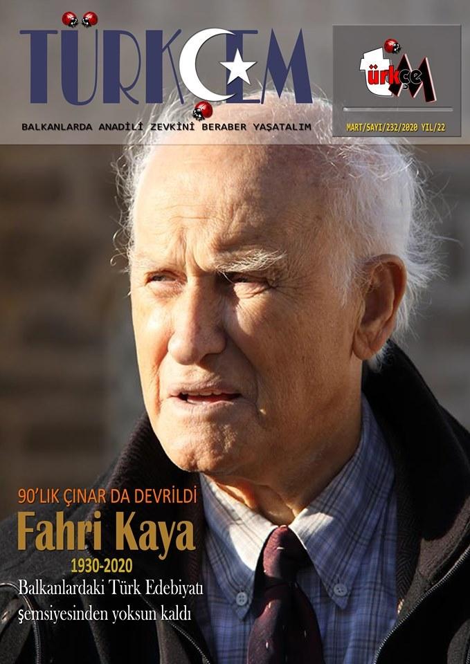 Türkçem Dergisi'nin Fahri Kaya'ya adanan yeni sayısı çıktı