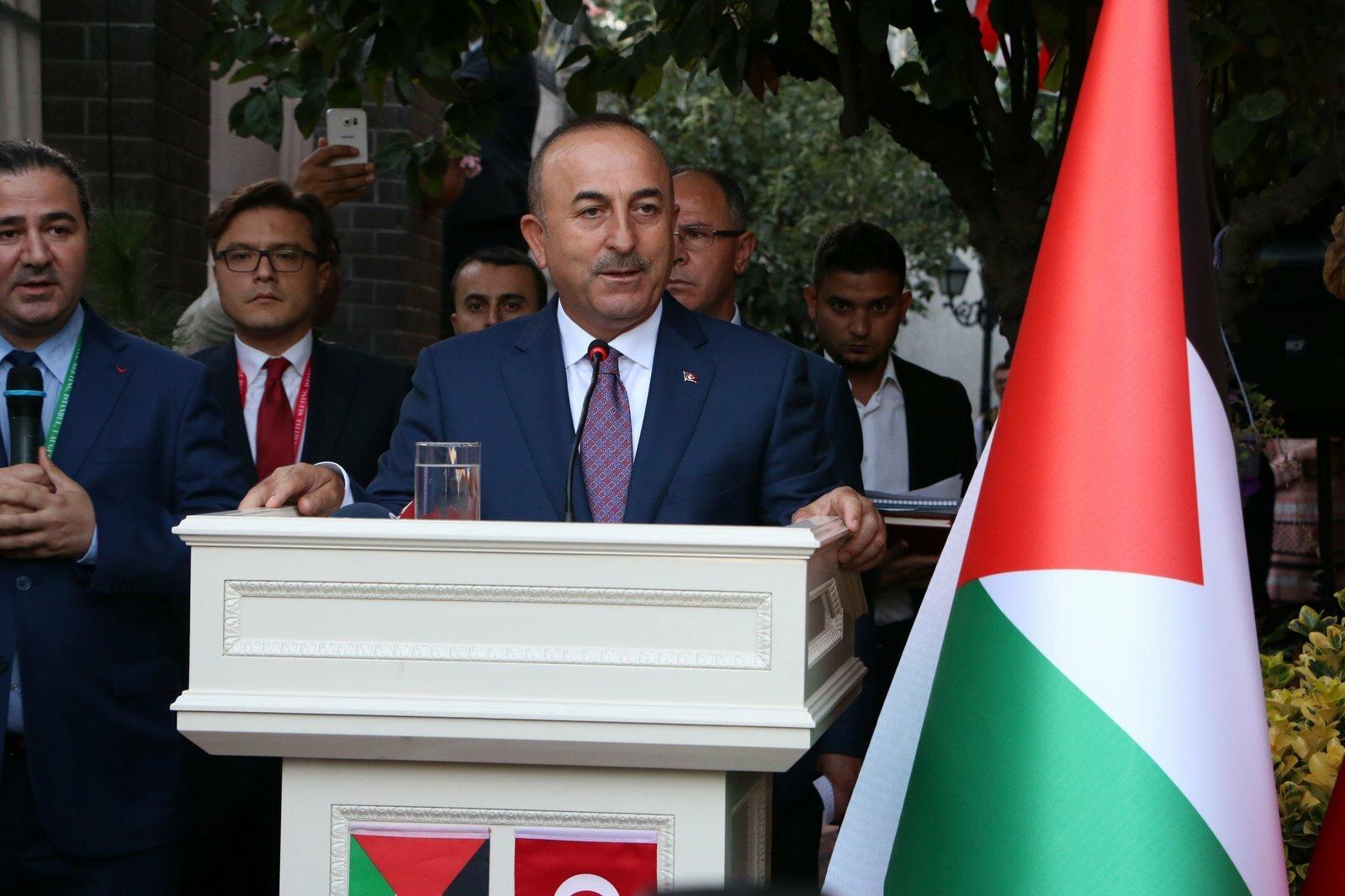 Türkiye Dışişleri Bakanı Çavuşoğlu'ndan Filistin'e destek mesajı
