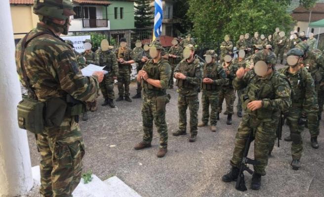 """Yunanistan'daki """"Silahlı Kuvvetler Yedek Kulübü"""" üyeleri silahlı eğitimlerine devam ediyor"""
