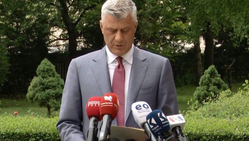 Kosova Cumhurbaşkanı Thaçi'den yeni hükümetin bir an önce kurulması çağrısı