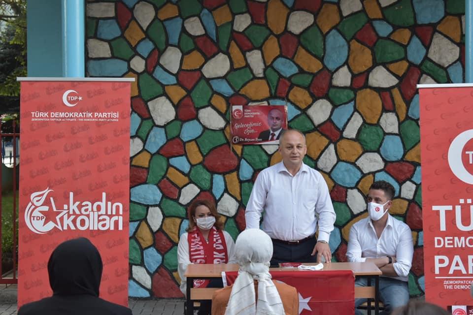 TDP seçim kampanyasına Kalkandelen'de devam etti