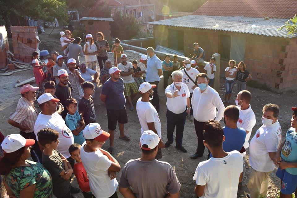 TMBH seçim çalışmalarını Ustrumca'da sürdürdü