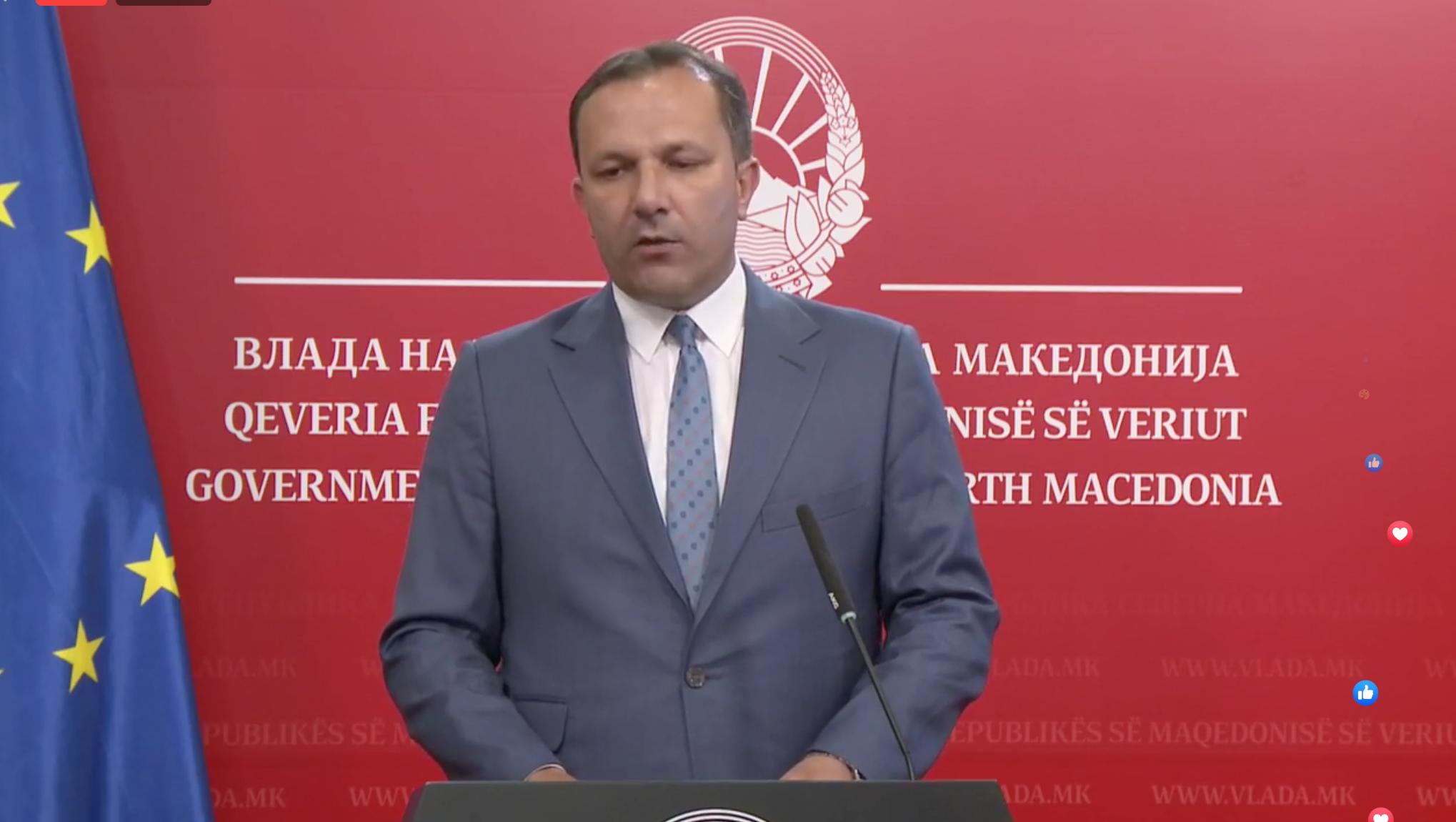 K. Makedonya Başbakanı Oliver Spasovski basın toplantısı düzenledi