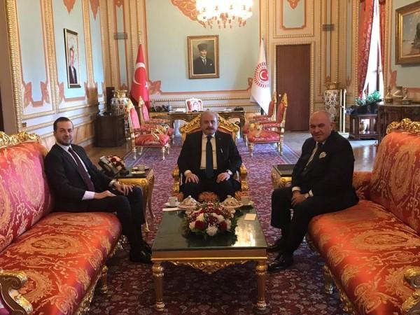 Aydoğan Ademoski'den Mustafa Şentop'a tebrik mesajı