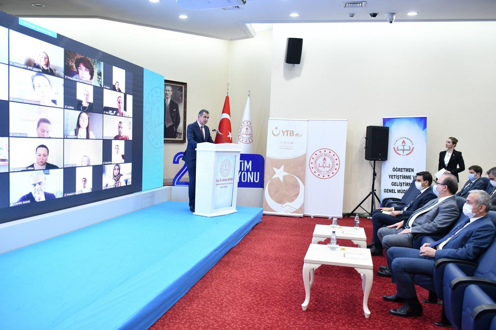 Yurt Dışı Tükler Öğretmen Akademisi Online Eğitim Portalı`nın Tanıtım Toplantısı Gerçekleştirildi