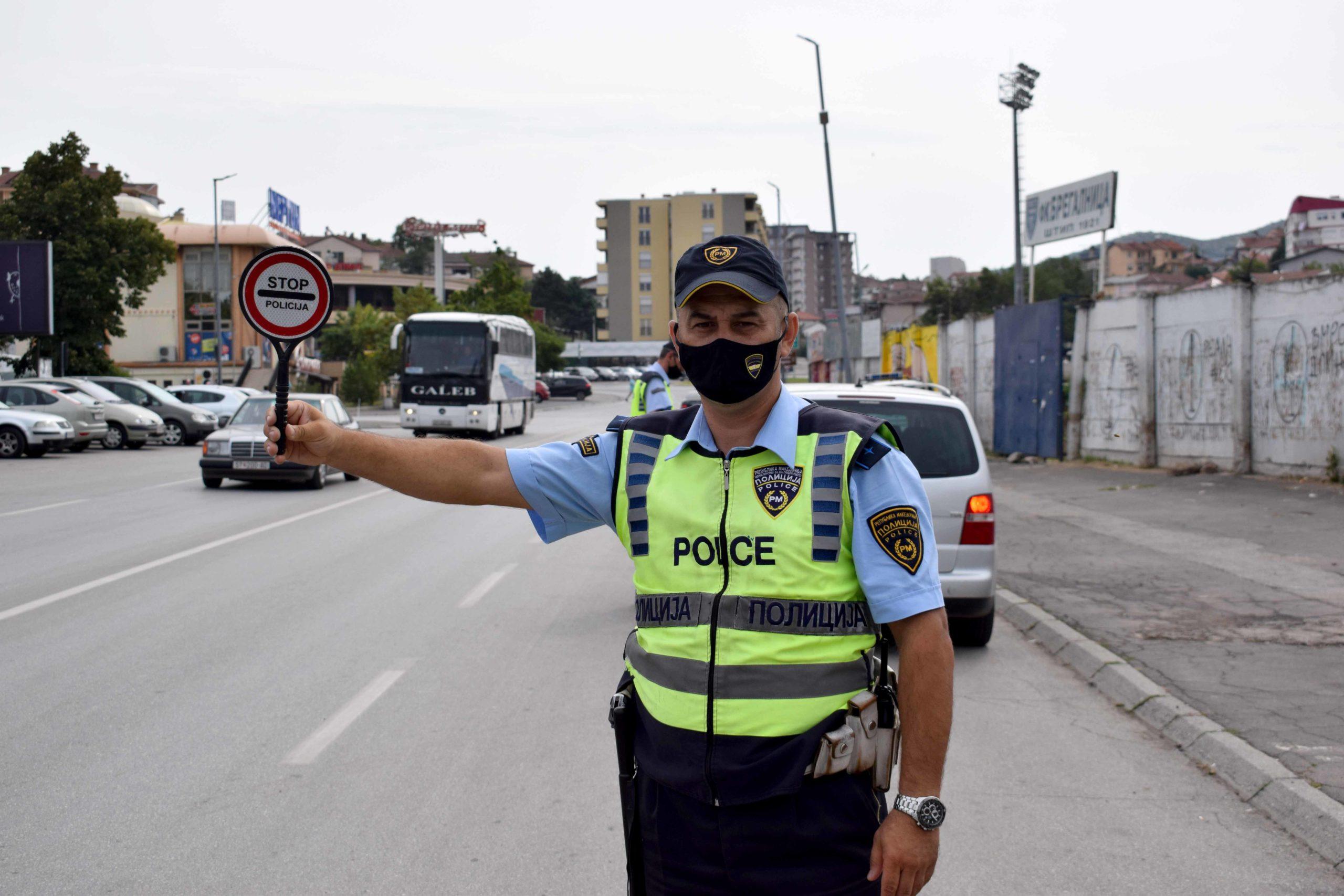 Üsküp'te 448 trafik cezası kesildi