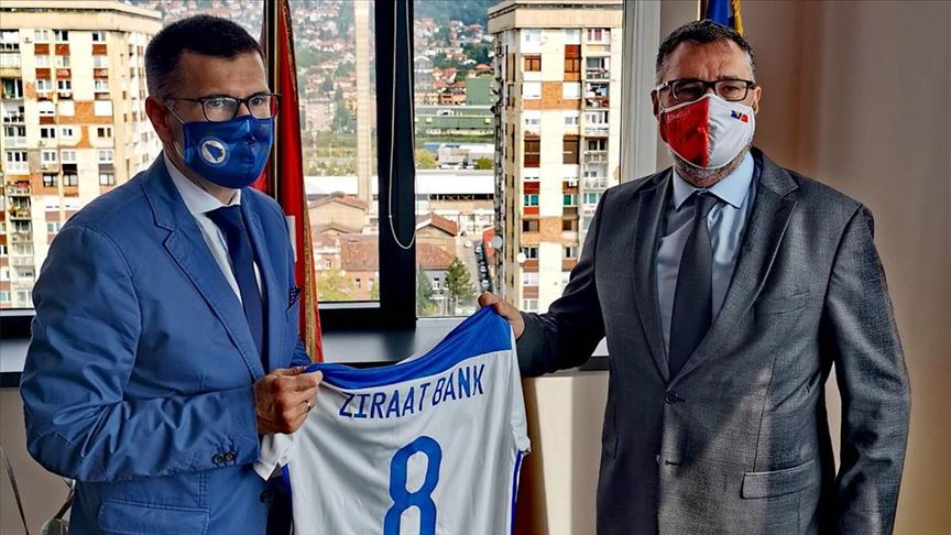 Bosna Hersek Futbol Federasyonu, Ziraat Bankası ile sponsorluk anlaşmasını yeniledi