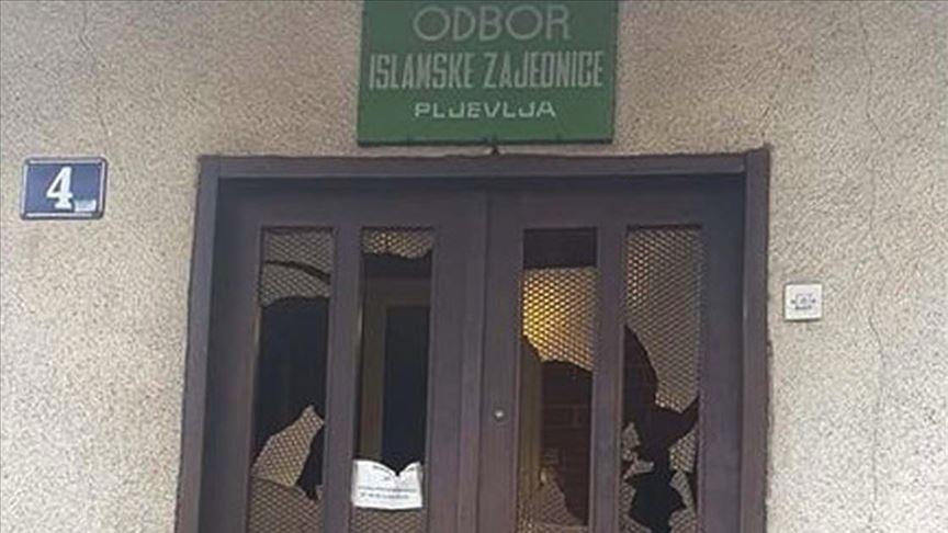 Karadağ'ın Pljevlja şehrindeki İslam Birliği binasına çirkin saldırı