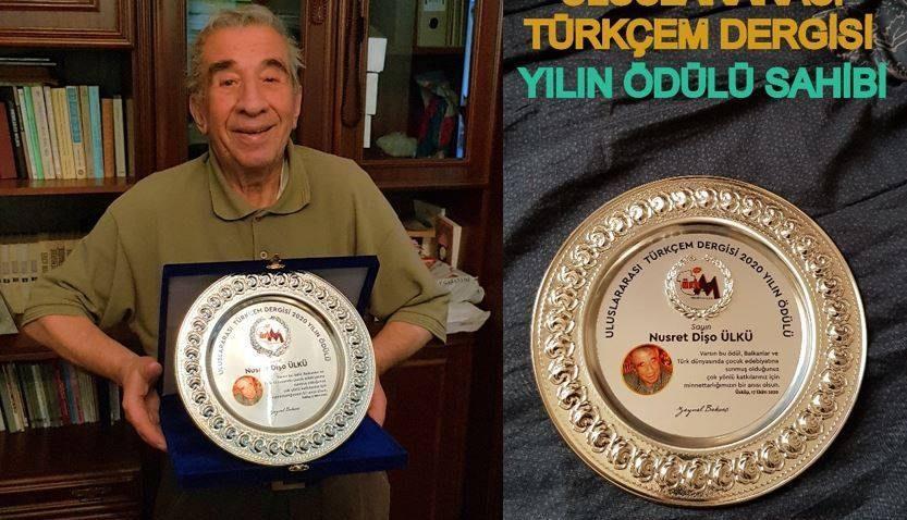 Uluslararası Türkçem Dergisi 2020 Yılın Ödülü şair Nusret Dişo Ülkü'ye verildi