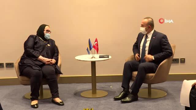 Çavuşoğlu, Bosna Hersek Dışişleri Bakanı Turkovic ile görüştü