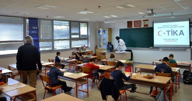 TİKA'dan Karadağ'da bilgisayarlı eğitime destek