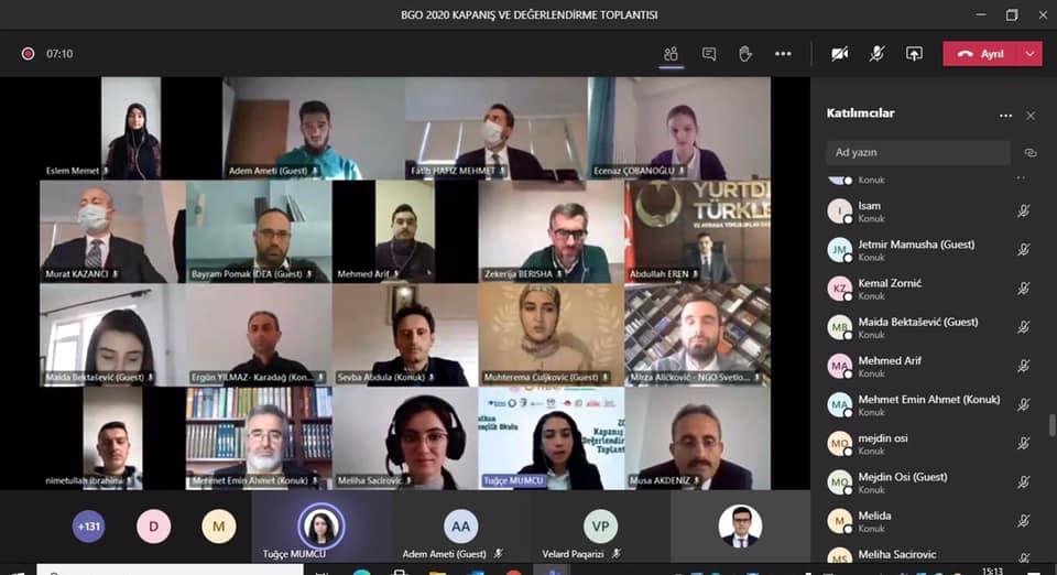"""BGO 2020'nin """"Kapanış ve Değerlendirme"""" toplantısı online olarak düzenlendi"""