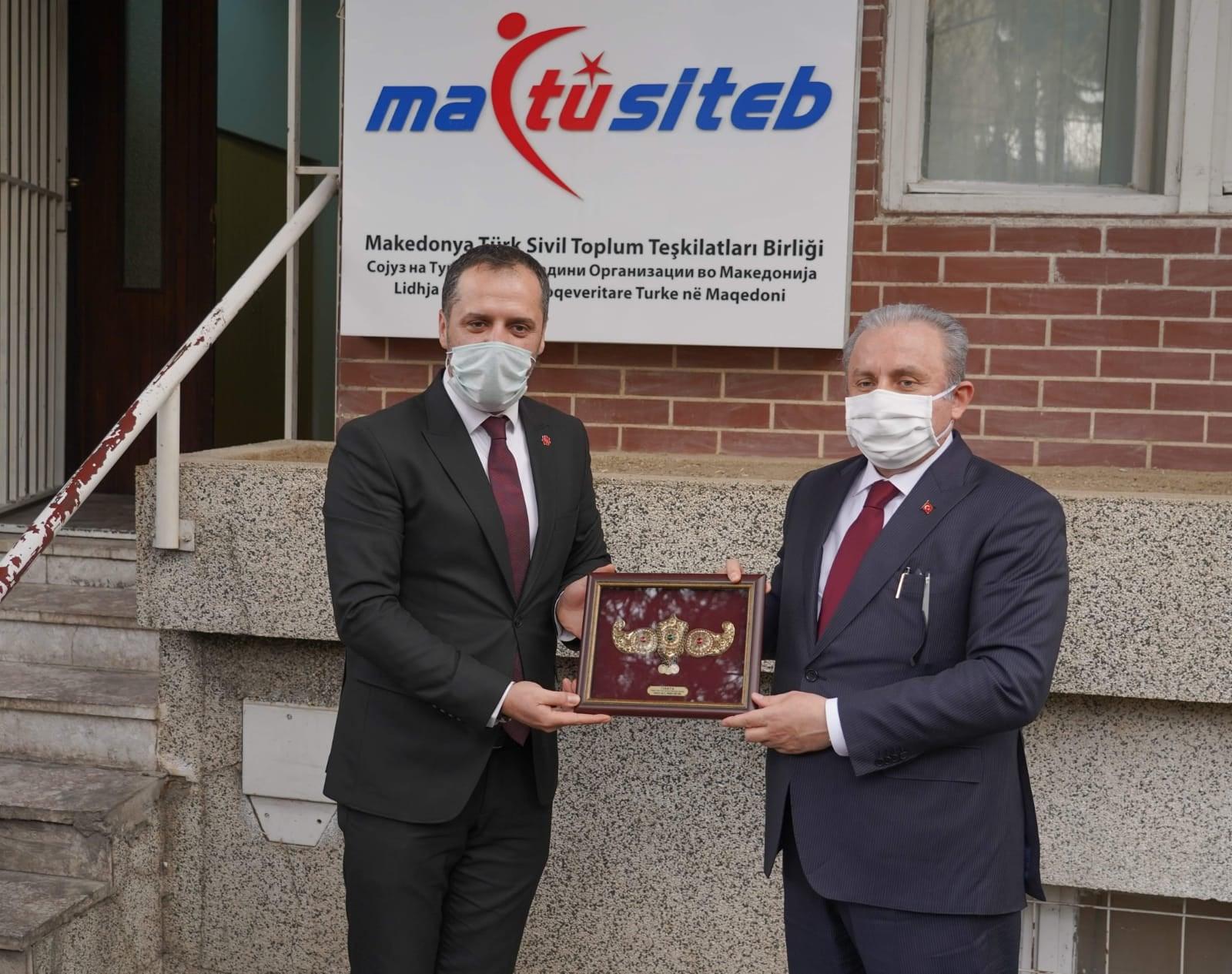 TBMM Başkanı Şentop, MATÜSİTEB'i ziyaret etti