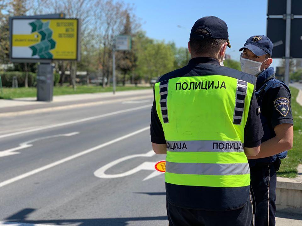 Başkent Üsküp'te 246 trafik cezası kesildi