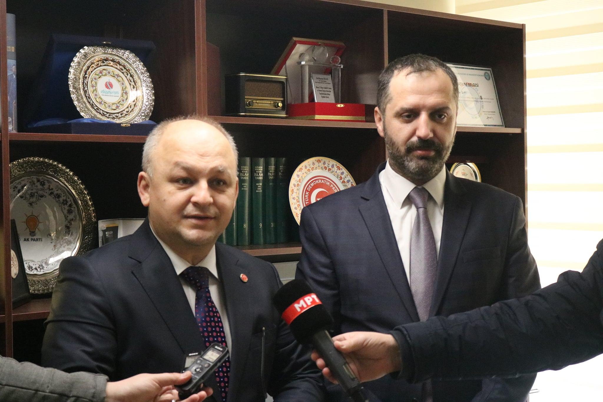 """MATÜSİTEB'ten TDP'ye """"nüfus sayımı"""" ziyareti"""