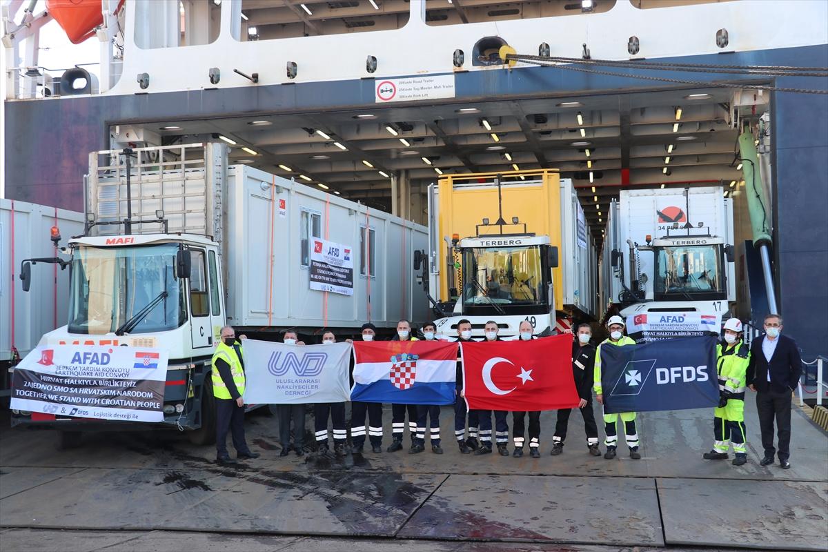 AFAD, depremin vurduğu Hırvatistan'a 100 yaşam evi konteyner gönderdi