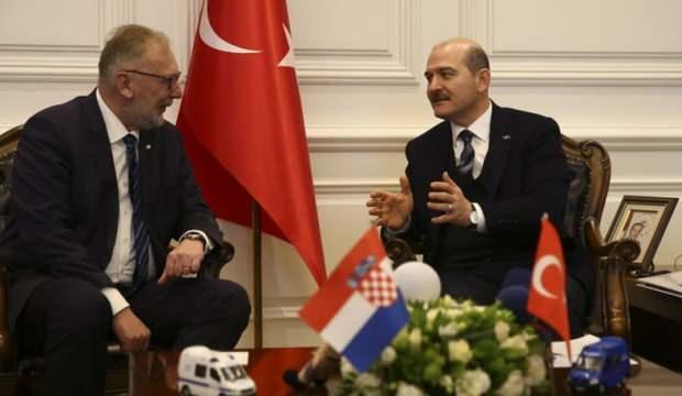 Türkiye İçişleri Bakanı Soylu, Hırvat mevkidaşı Bozinovic ile görüştü