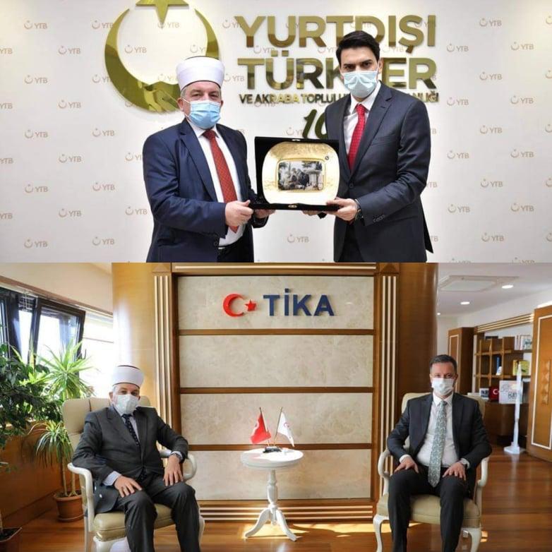 İslam Birliği Başkanı Fetahu'dan YTB ve TİKA'ya ziyaret