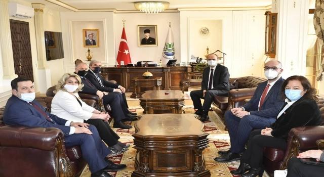 KDTP Genel Başkanı Damka, Edirne Valisi Canalp'i ziyaret etti
