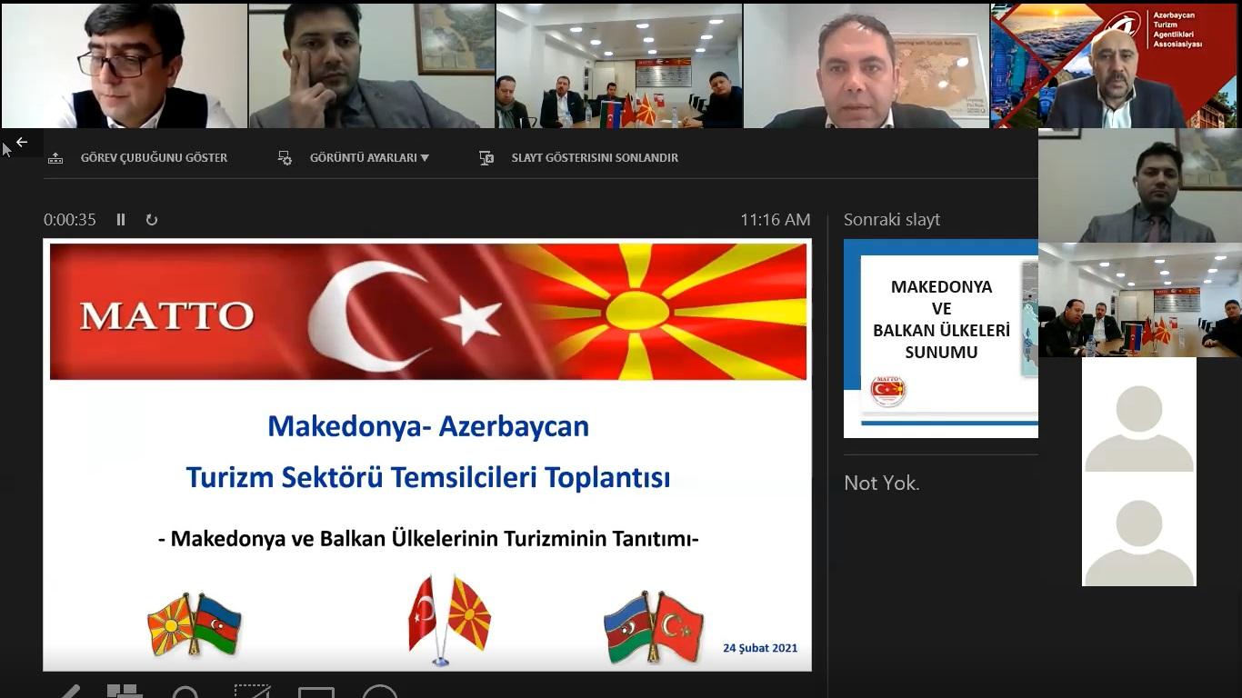 """""""Makedonya ve Balkan Ülkelerinin Turizm Tanıtımı"""" konulu çevrimiçi toplantı düzenlendi"""
