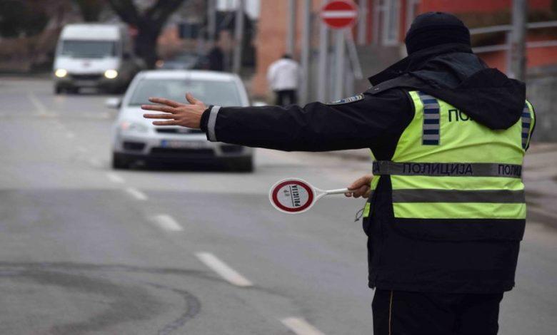Başkent Üsküp'te 190 trafik cezası kesildi
