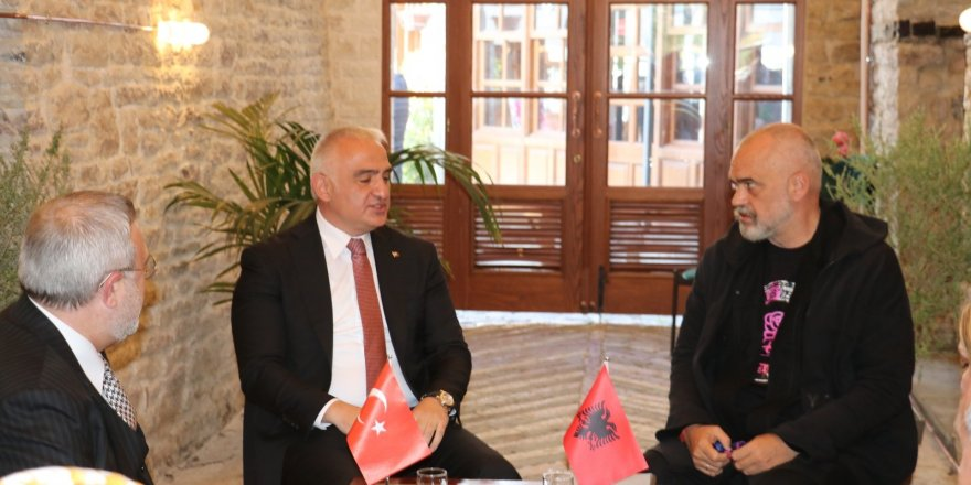 Türkiye Kültür ve Turizm Bakanı Ersoy, Arnavutluk Başbakanı Rama ile görüştü