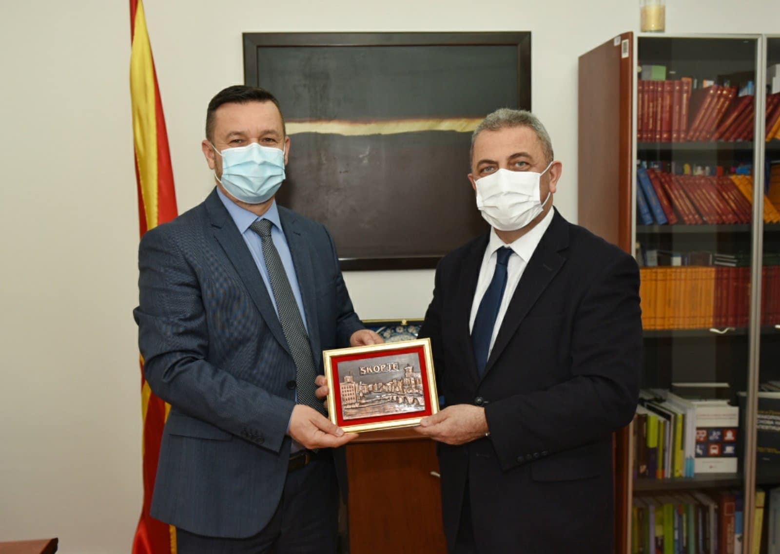YTB Başkan Yardımcısı Yusuf'tan, ÇSP Bakan Yardımcısı Hüseyin'e ziyaret