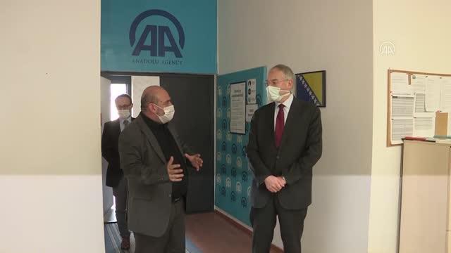 Türkiye'nin Saraybosna Büyükelçisi Girgin, AA ofisini ziyaret etti