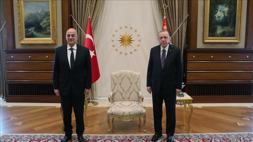 Türkiye Cumhurbaşkanı Erdoğan, Yunanistan Dışişleri Bakanı Dendias'ı kabul etti