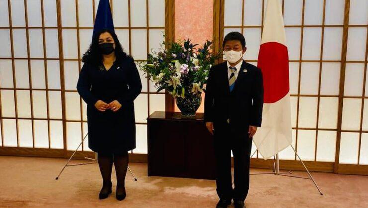 Kosova Cumhurbaşkanı Osmani, Japonya Dışişleri Bakanı ile görüştü
