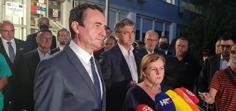 Kosova Başbakanı Kurti, Hırvatistan'da meydana gelen kazada yaralanan Kosovalıları ziyaret etti