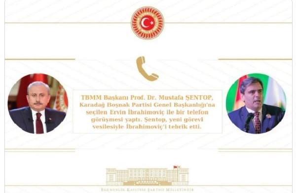 TBMM Başkanı Şentop, Karadağ Boşnak Partisi Genel Başkanı İbrahimoviç ile görüştü