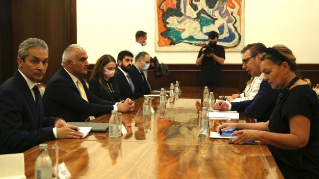 Kültür ve Turizm Bakanı Ersoy'u Sırbistan Cumhurbaşkanı Vucic kabul etti