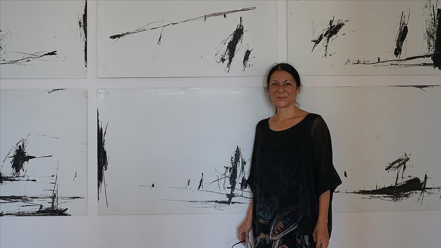 Ressam Maria Pavlovska'nın 'Sessizlik' sergisi 6 Ağustos'a kadar görülebilecek