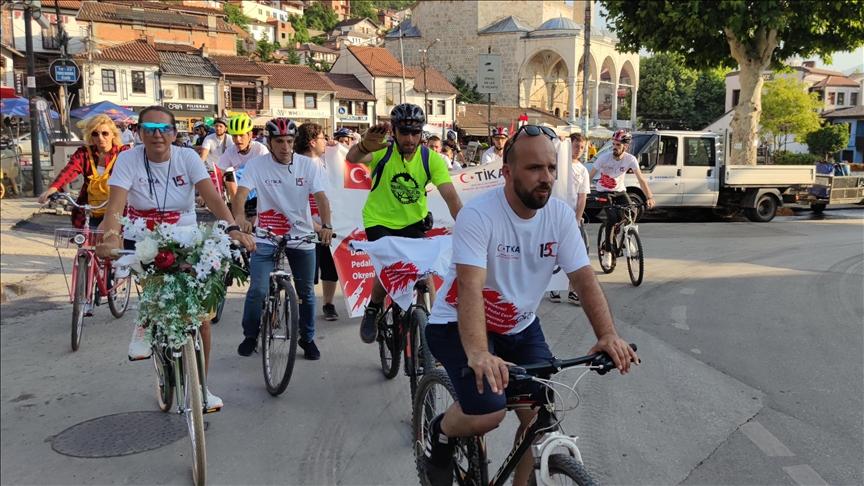 """Prizren'de """"Demokrasi İçin Pedal Çevir"""" etkinliği"""