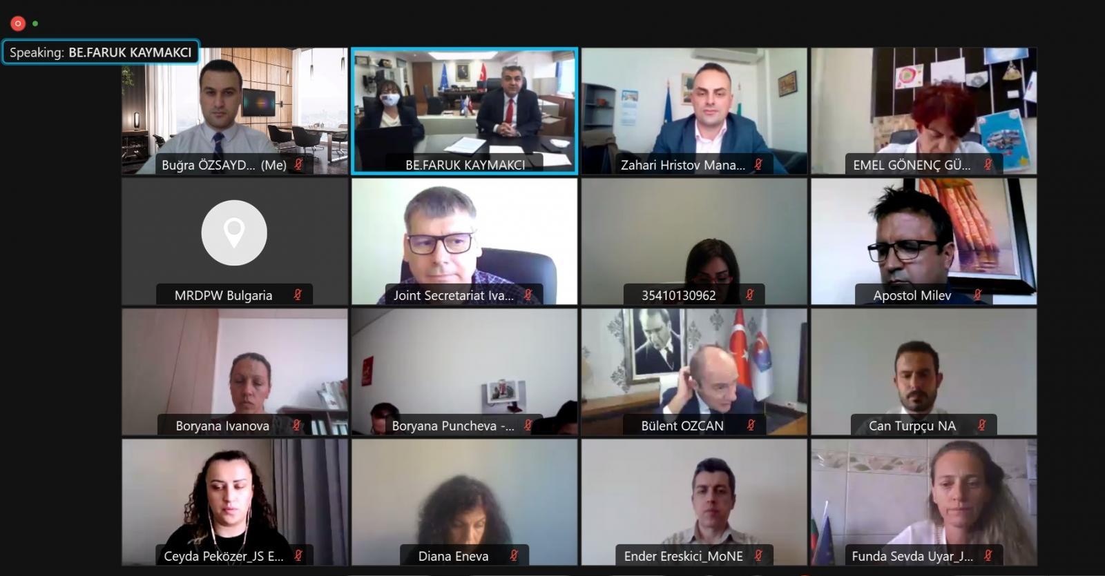 Interreg-IPA Bulgaristan-Türkiye Dördüncü Ortak Çalışma Grubu Toplantısı Çevrimiçi Gerçekleşti