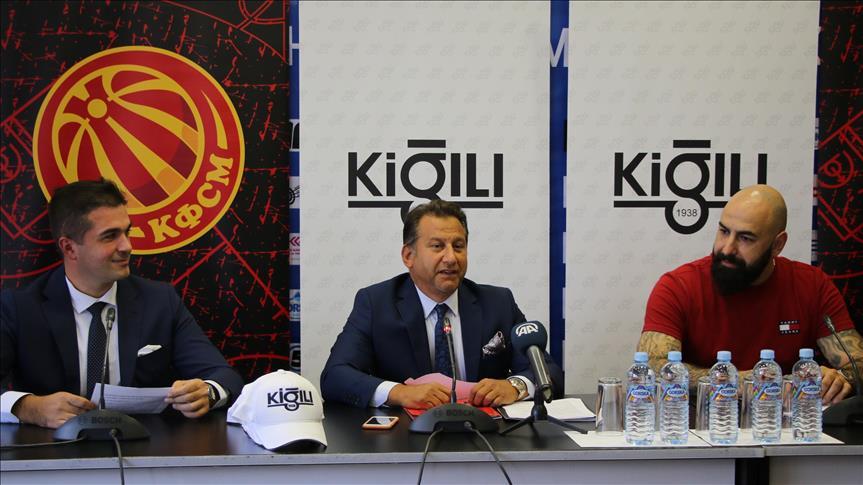 Kiğılı, K.Makedonya Basketbol Milli Takımı ve Olimpiyat Komitesi'ne sponsor oldu
